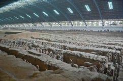 Terrakottakrigaremuseum i Xian Arkivfoto