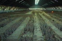 Terrakottasoldater i XI ` en Kina Arkivbild