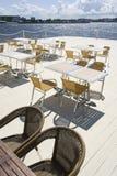 Terraço do verão no café Foto de Stock Royalty Free