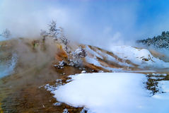 Terraços gigantescos da mola quente Fotos de Stock Royalty Free