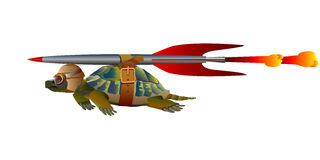 Terrapin in flight Royalty Free Stock Photo