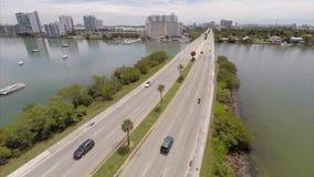 Terraplén aéreo Miami del vídeo JFK metrajes