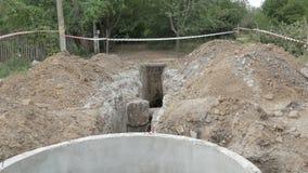 Terraplén, abastecimiento de agua almacen de metraje de vídeo