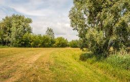 Terraplén curvado en un paisaje rural Fotografía de archivo
