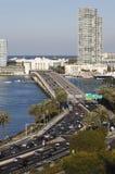 Terraplén de Arturo del mac, playa del sur, Miami foto de archivo libre de regalías