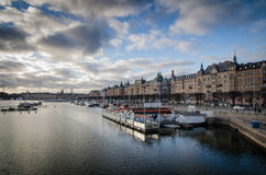 Terraplén de Estocolmo Fotografía de archivo libre de regalías