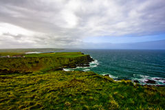 Terraplén de Giants, paisaje de Irlanda del Norte Reino Unido Imagen de archivo libre de regalías
