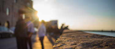 Terraplén de Jaffa bajo rayos del sol Fotografía de archivo libre de regalías