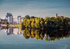 Terraplén de la ciudad de Riga Imagen de archivo libre de regalías