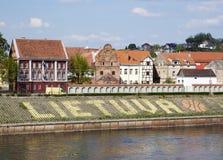 Terraplén de la ciudad de Kaunas Foto de archivo