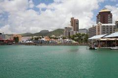 Terraplén de la ciudad Port Louis, Isla Mauricio Imagen de archivo