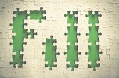 Terraplén de la palabra hecho de rompecabezas Fotografía de archivo libre de regalías
