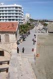Terraplén de Larnaca, Chipre Fotos de archivo libres de regalías