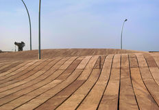 Terraplén de madera Imagen de archivo