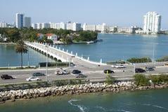 Terraplén de Miami MacArthur Fotografía de archivo libre de regalías