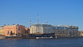 Terraplén de Mytninskaya Imagen de archivo libre de regalías