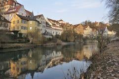 Terraplén de Neckar, Tubinga Fotos de archivo libres de regalías