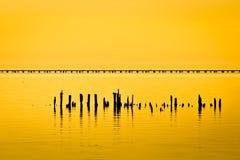 Terraplén de Pontchartrain del lago fotos de archivo libres de regalías
