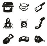 Terraplén de Shop Icons Freehand del carnicero Foto de archivo libre de regalías
