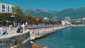 Terraplén de Yalta crimea almacen de video