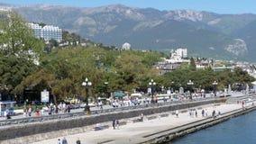 Terraplén de Yalta crimea metrajes