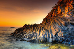 Terraplén del basalto del gigante imagen de archivo libre de regalías