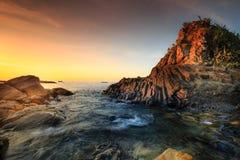 Terraplén del basalto del gigante foto de archivo libre de regalías