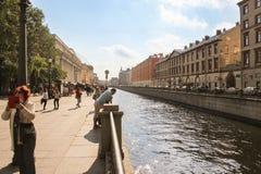 Terraplén del canal de Griboyedov Fotos de archivo libres de regalías