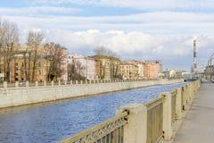 Terraplén del canal de Obvodny Fotos de archivo