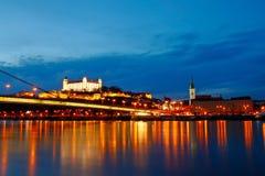 Terraplén del Danubio - la Bratislava Foto de archivo libre de regalías