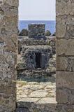 Terraplén del fuerte de las coles rizadas en Lerapetra Foto de archivo