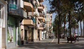 Terraplén del pavimento en Badalona Imagenes de archivo