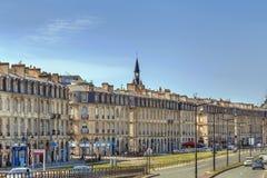 Terraplén del río de Garona, Burdeos, Francia foto de archivo libre de regalías