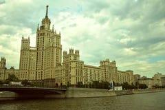 Terraplén del río de Moscú Imágenes de archivo libres de regalías