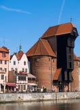 Terraplén del río de Motlawa, Gdansk Foto de archivo