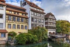 Terraplén del río enfermo, Estrasburgo fotografía de archivo