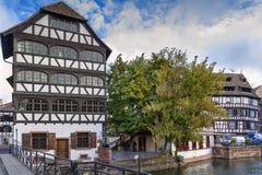 Terraplén del río enfermo, Estrasburgo fotografía de archivo libre de regalías