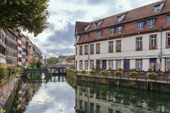 Terraplén del río enfermo, Estrasburgo fotos de archivo libres de regalías