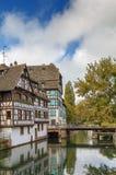Terraplén del río enfermo, Estrasburgo fotos de archivo