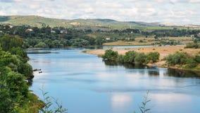 Terraplén del río Tejo, en Constancia, Portugal Imagenes de archivo