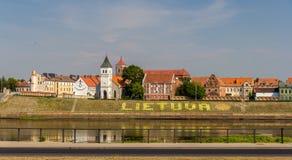 Terraplén en Kaunas - Lituania fotografía de archivo libre de regalías