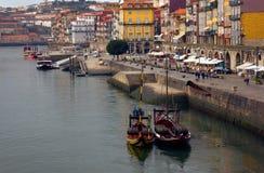 Terraplén en Oporto viejo, Portugal Fotos de archivo libres de regalías