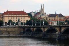 Terraplén en Praga Fotografía de archivo
