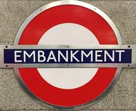 Terraplén Londres de la estación Imagen de archivo libre de regalías