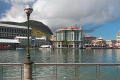 Terraplénes del puerto de Trou Fanfaron Port Louis, Isla Mauricio Imagenes de archivo