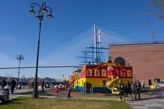 Terraplenagem Cesarevitch de Vladivostok Foto de Stock