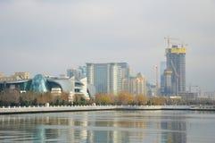 Terraplenagem da cidade de Baku Imagem de Stock