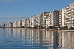 Terraplenagem da cidade de Tessalónica, Grécia Foto de Stock Royalty Free