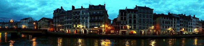 Terraplenagem de Bayonne, França Fotografia de Stock Royalty Free