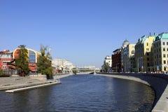 Terraplenagem de Bersenevskaya em Moscou, Rússia Fotos de Stock